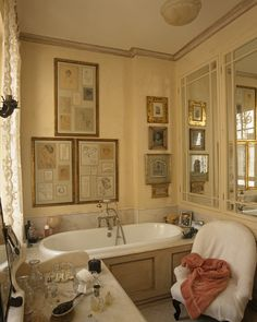 Bathroom Are those cabinets behind those mirrors?  I think so.