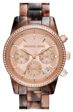 MICHAEL Michael Kors 'Ritz' Chronograph Bracelet Watch, 37mm available at #Nordstrom
