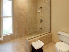 › Open Showers Without Doors › walk in shower without door Shower Tile Designs, Walk In Shower Designs, Bathroom Designs, Small Bathroom With Shower, Master Bathroom, Bathroom Showers, Small Bathrooms, Tile Bathrooms, Bathroom Closet