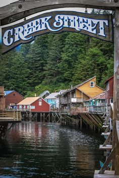 ~~Creek Street |  historic boardwalk perched on pilings along the banks of Ketchikan Creek, Ketchikan, Alaska by Ron Fletcher Photography~~