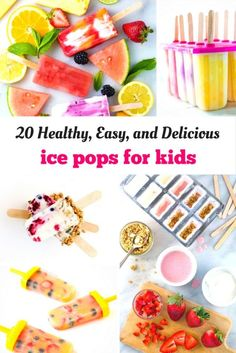 20 Healthy Ice Pop Recipes for Kids! - The Imagination Tree Ice Pop Recipes, Dessert Recipes, Healthy Dinner Recipes, Delicious Desserts, Healthy Food, Eating Healthy, Healthy Living, Clean Eating, Dinners For Kids