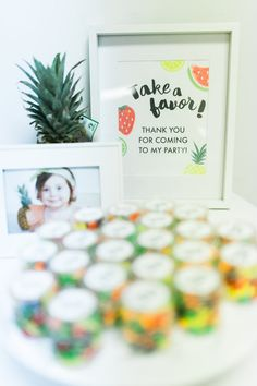 Party Favor Sign  Tutti Frutti Birthday Party by PrintsForEvents