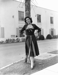 """Susan Hayward on the set of """"With a Song in My Heart"""""""