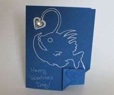Another paper circuit  where the circuit is part of the design this time using a scribe pen (conductive/ink/paint) with chibitronics......Anglerfish Valentine