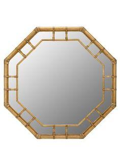 Regeant Octagonal Wall Mirror in Nutmeg design by Selamat