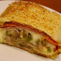 Meat and Veggie Stromboli Allrecipes.com