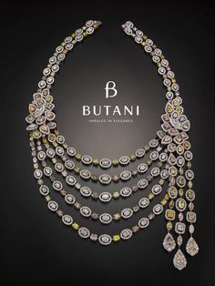 Redefining luxury starting with this 100-carat necklace with fancy colour diamonds #Butani #ButaniJewellery #Bridal