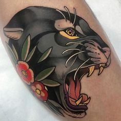 Amazing Work by➡️ Made ✅ ✅𓂀🙏 tag friends, like, comment, shares apariencie 🙏💯 Cover Up Tattoos For Men, Unique Tattoos For Men, Rose Tattoos For Men, Tattoos For Guys, Animal Sleeve Tattoo, Animal Tattoos, Sleeve Tattoos, Traditional Tattoo Sketches, Traditional Panther Tattoo