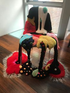 Wool on Eames Chair Unusual Furniture, Journey To The West, Change Of Heart, Sweet Soul, I Am Game, Art Fair, Eames, Chairs, Wool