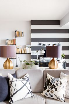 Black & White striped wall <3