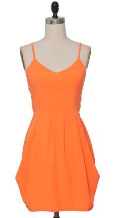Trendy and Cute dresses - Hot & Delicious - Orange Highlighter Dress - chloelovescharlie.com | $46.00