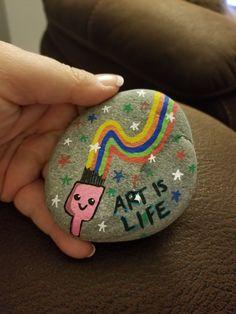 #korbysrocks Artist Paint Brush Painted Rock