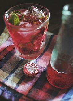 Campari Soda + Mint