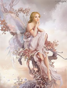 ≍ Nature's Fairy Nymphs ≍ magical elves, sprites, pixies and winged woodland faeries - Elfen Fantasy, 3d Fantasy, Fantasy Girl, Fantasy Fairies, Fantasy Artwork, Magical Creatures, Fantasy Creatures, Art Magique, Fairy Pictures