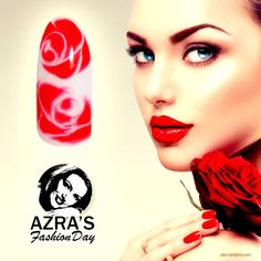 """abc nailstore präsentiert: Azra's Fashion Day: LOVE is all around! Nailart """"red rose""""  #rose #nails #love #naildesign #gel #abcnailstore"""