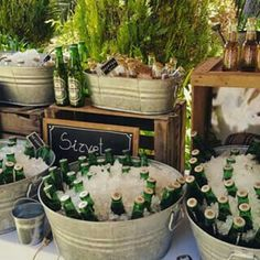 Super Party Beer Bar Wine 42 Ideas - - The Effective Pictures We Offer You Mexican Party, Super Party, Bar Drinks, Anniversary Parties, Rustic Wedding, Wedding Decorations, Wedding Ideas, Birthday Parties, Drink Stations