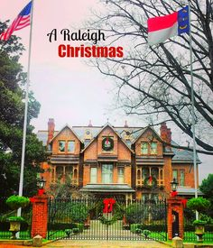 Christmas in North Carolina's Capital City: Raleigh, N.C. (Southern United States). The Governors residence is beautiful year round. ❤️