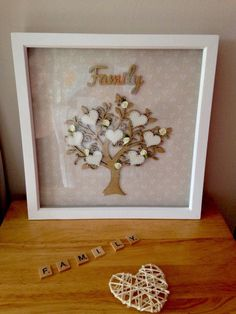 MOTHER'S DAY 2017 Large Unique Family Tree Frame Perfect Gift For Mother's Day, Birthdays & weddings