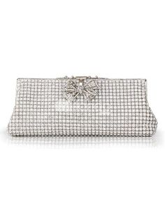 Silver Glitter Rosette Silk Evening Bag for Woman. Silver Glitter Rosette Silk Evening Bag for Woman. See More Evening Bags at http://www.ourgreatshop.com/Evening-Bags-C769.aspx