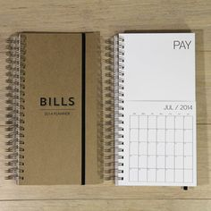 2014 Bill calendar- helps you keep bills in one place and track of what has/hasn't been paid