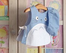 Totoro baby two piece set, newborn-12 months totoro 2piece, Studio ghibli inspire,made in spain