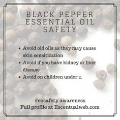 Black pepper is a great oil that isn't talked about as much. Learn more with this essential oil profile, including safety tips. Black Pepper Oil, Black Pepper Essential Oil, Essential Oil Safety, Are Essential Oils Safe, Liver Disease, Diffuser Blends, Safety Tips, Aromatherapy, Essentials