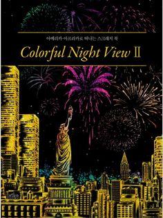 Colorful Night View Scratch Book Vol.2 Gift American Africa Tour Scenery Fun DIY