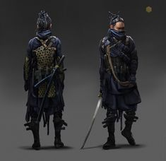 ArtStation - Cyber Samurai , Eddie Mendoza