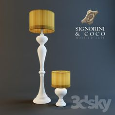 3d Standing and table lamp