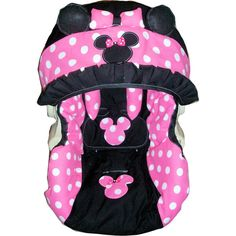 Minnie mouse infant car seat cover any model ($95) ❤ liked on Polyvore featuring baby, baby stuff, kids and baby furniture