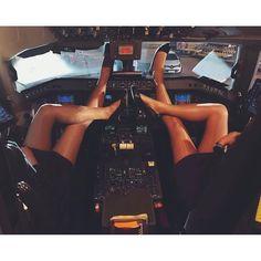 From @l_p_c_9 -  When the pilots are away the  C a b i n  C r e w  will play!  P a r t n e r s  I n  C r i m e  Photo Credit to @b.en.jam.in     #crewlife #cabincrew #cabincrewlife #flightattendant #flightattendantlife #flygirl #uniforms #crewlifestyle #cockpit #cockpitlegs #cockpitview #legs #legsfordays #airhostess #trolleydolly #flightdeck #flightcrew #ilovemyjob #blondegirl #partnersincrime #aircrew #aviation #malagaairport #crewiser - #regrann #aviationpilotuniform