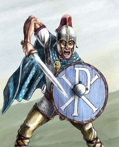 Romano British Warrior, 5th Century AD by Jason Pope (http://popius.deviantart.com/)