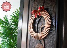 DIY: Guirlanda de Natal com pregadores de roupa