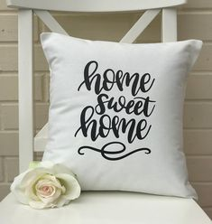 Home Sweet Home Cushion Cover Affirmation quote New Home