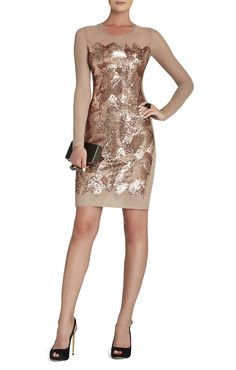 Anaya Long-Sleeve Braided Sequined Dress by Bcbg fall/winter 2013 Bcbg Dresses, Bcbgmaxazria Dresses, Nice Dresses, Amazing Dresses, Night Outfits, Cool Outfits, Outfit Night, Sequin Dress, Peplum Dress