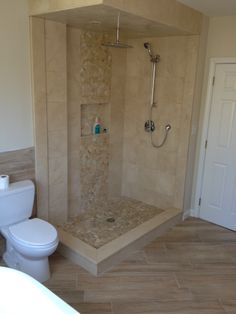 Stone Shower Tile by Installations Plus of Holliston MA