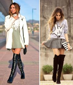 Over the knee #fashion #winter