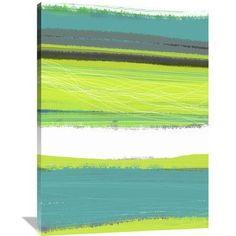 Naxart 'Aquatic Breeze 1' Graphic Art on Wrapped Canvas Size: