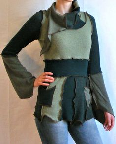 Women's Upcycled Green Faery Elf Dress by lovemadevisiblestore, $89.00
