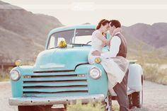 I am obsessing with old pick-up trucks. I would love to have one in our wedding