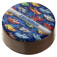 Muscle Cars Pattern Oreo Cookies Chocolate Dipped Oreo