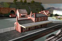 The Station - 00 Gauge model Railway- STONE built
