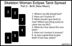 Skeleton Woman Eclipse Tarot Spread Part 2 New Moon