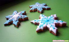 Galletas de Navidad. Copos de nieve.
