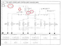 tail lamp and licence lamp with position lamp or sunvisor lamp of kia pregio  lighting wiring diagram : wiring diagram