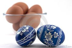 Polish dyed easter eggs