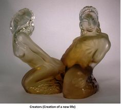 """Glass sculpture """"The creation of a new life"""""""