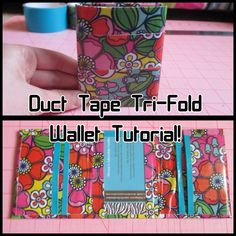 Duct Tape Tri Fold Wallet Tutorial! - YouTube