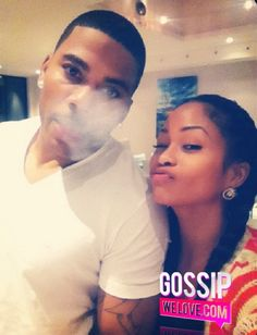 Nelly & Tae Heckard BOO'd UP While SMOKING A BLUNT! [Photo] ~ @Gossipwelove