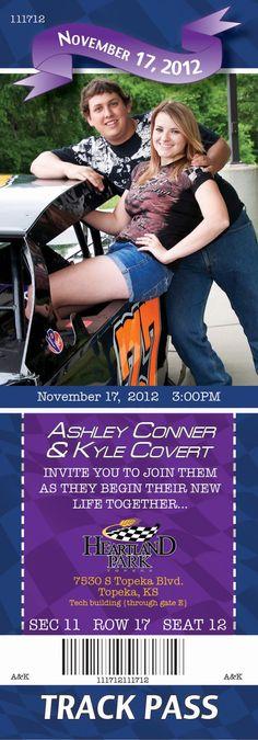 Race car Wedding Invitations - kooserdesign.com